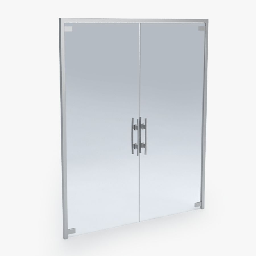 Door glass056 royalty-free 3d model - Preview no. 1