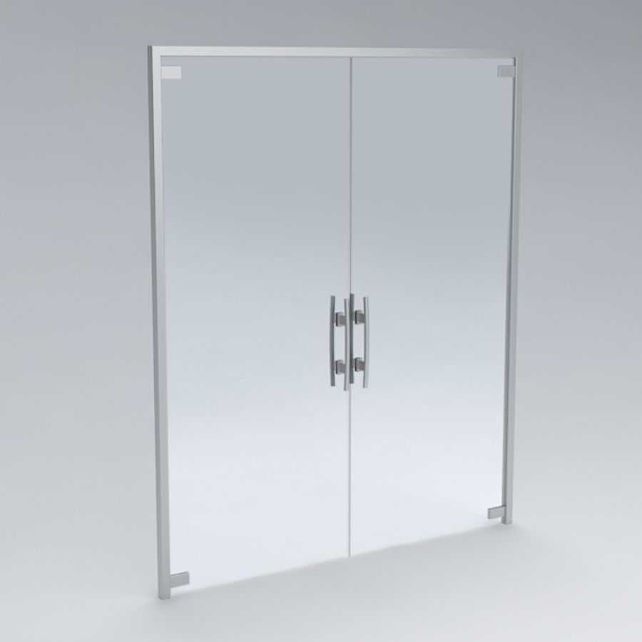 Door glass056 royalty-free 3d model - Preview no. 2