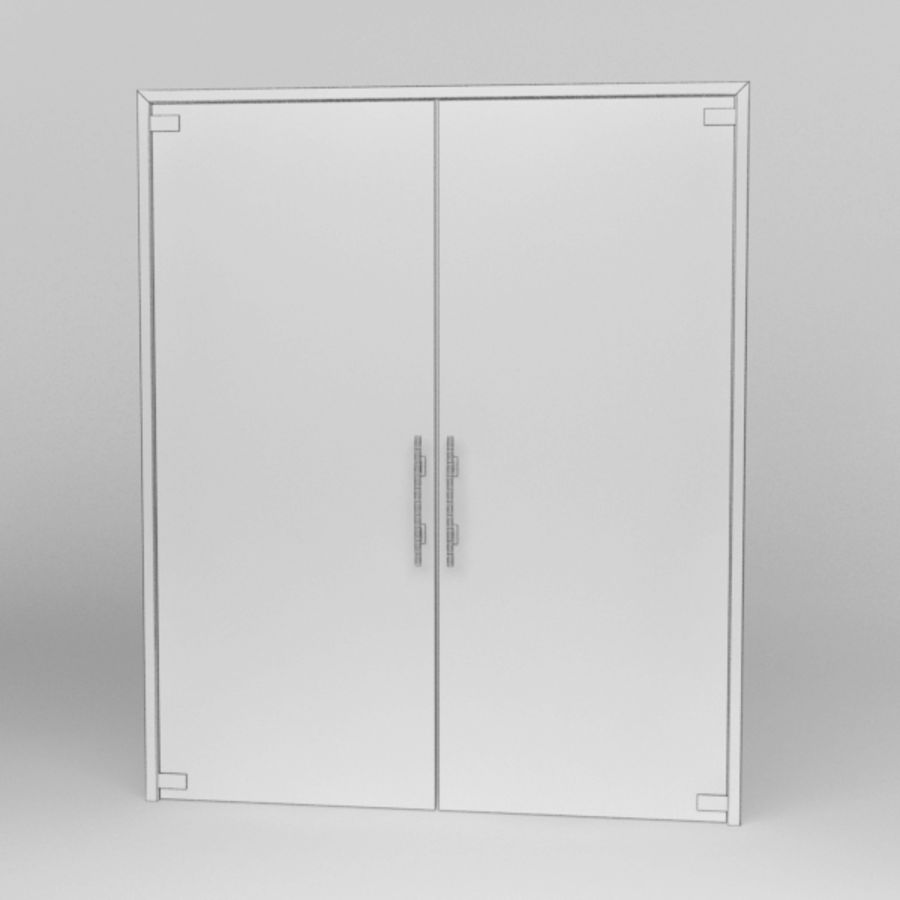 Door glass056 royalty-free 3d model - Preview no. 7