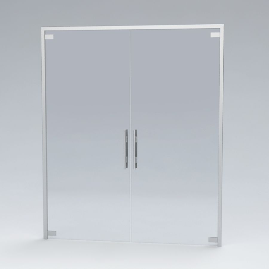 Door glass056 royalty-free 3d model - Preview no. 4