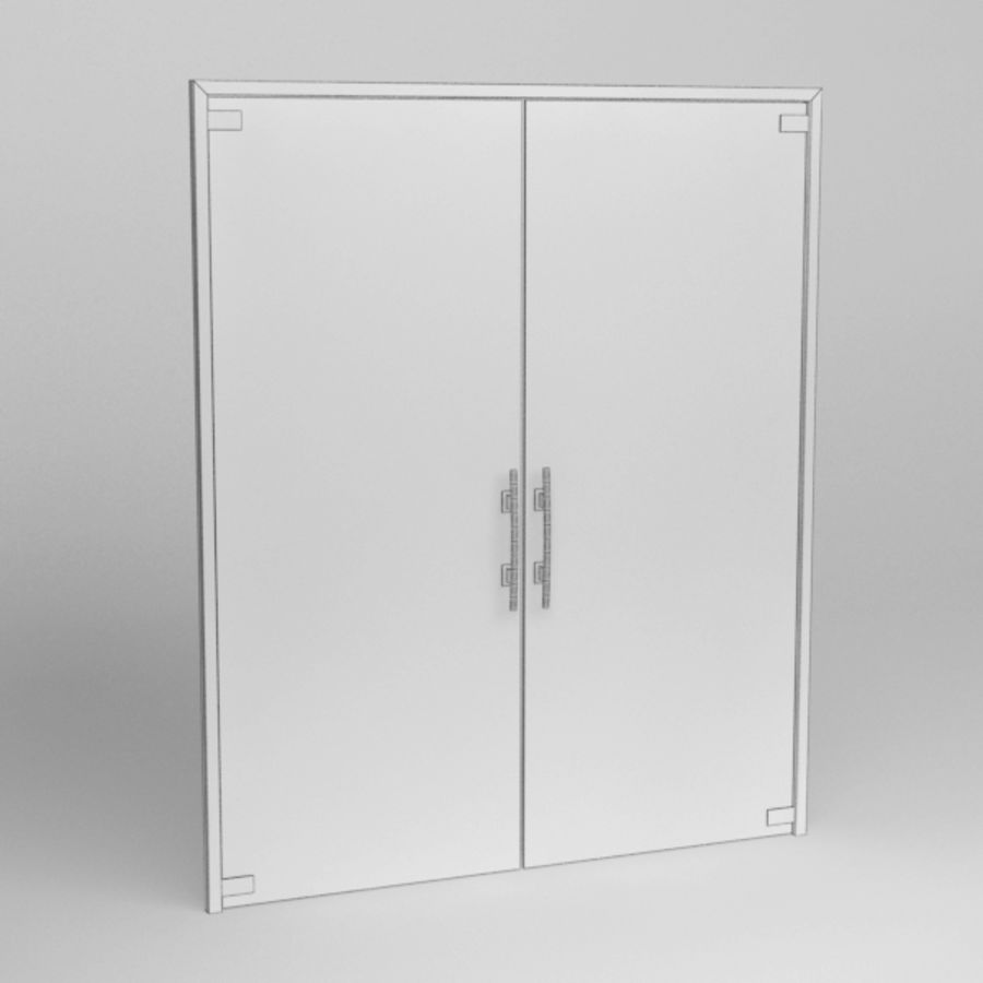 Door glass056 royalty-free 3d model - Preview no. 6