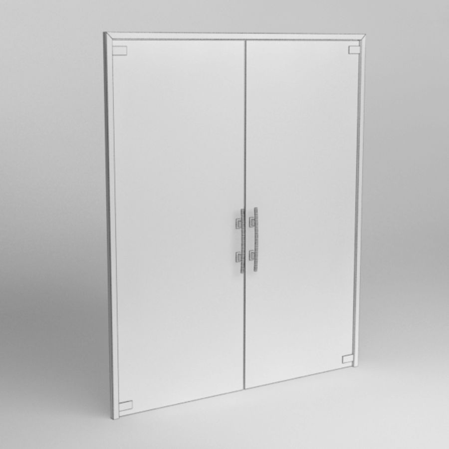Door glass056 royalty-free 3d model - Preview no. 5