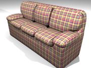 Plaid Couch 3d model