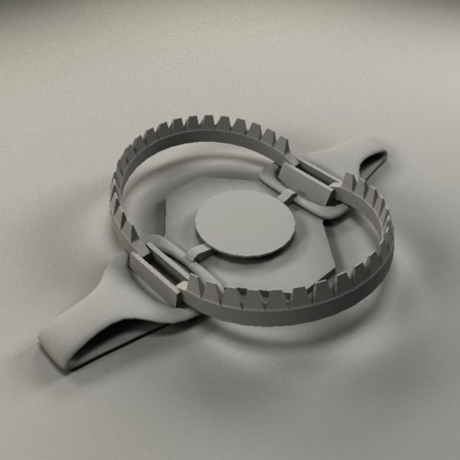 bear trap EM.max royalty-free 3d model - Preview no. 2