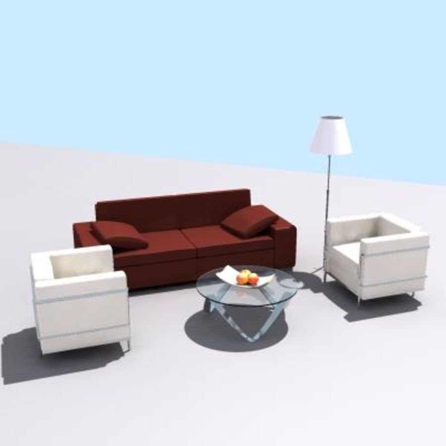 P3d Furniture Set Royalty Free 3d Model   Preview No. 1