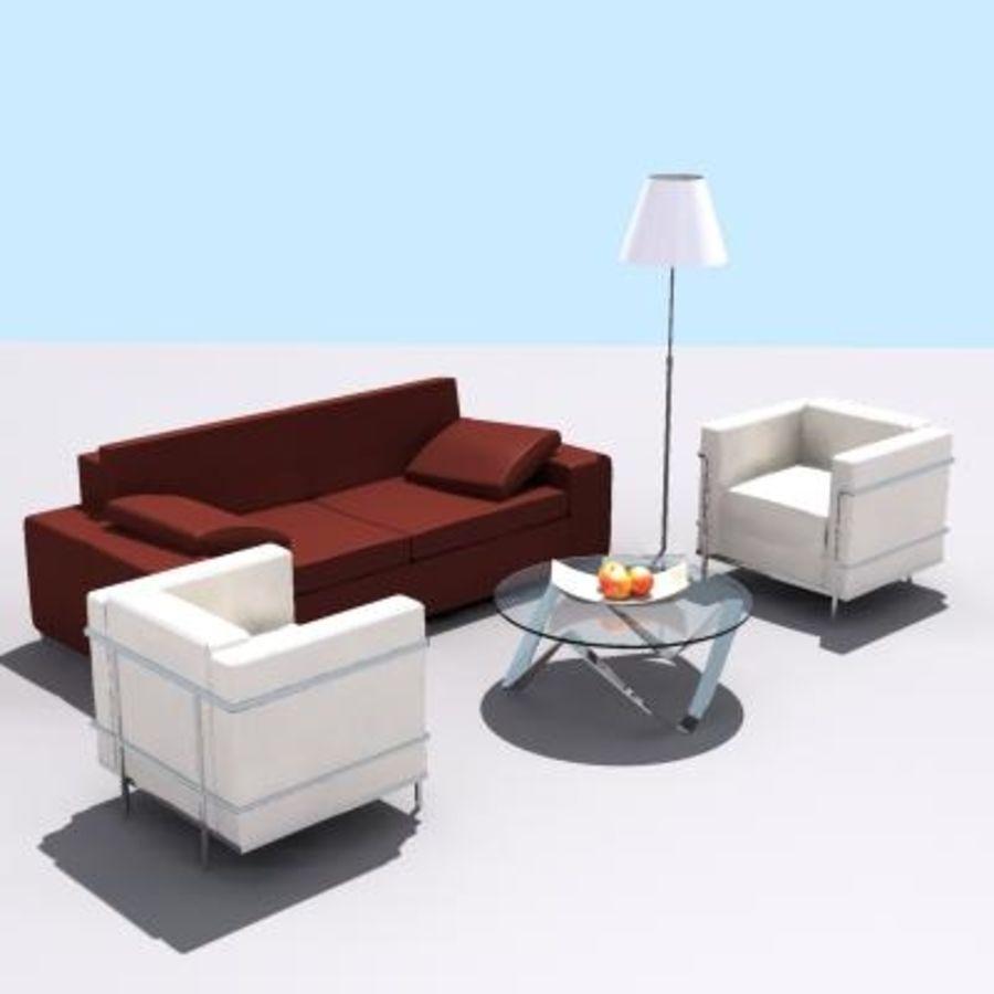 p3d möbel uppsättning royalty-free 3d model - Preview no. 2