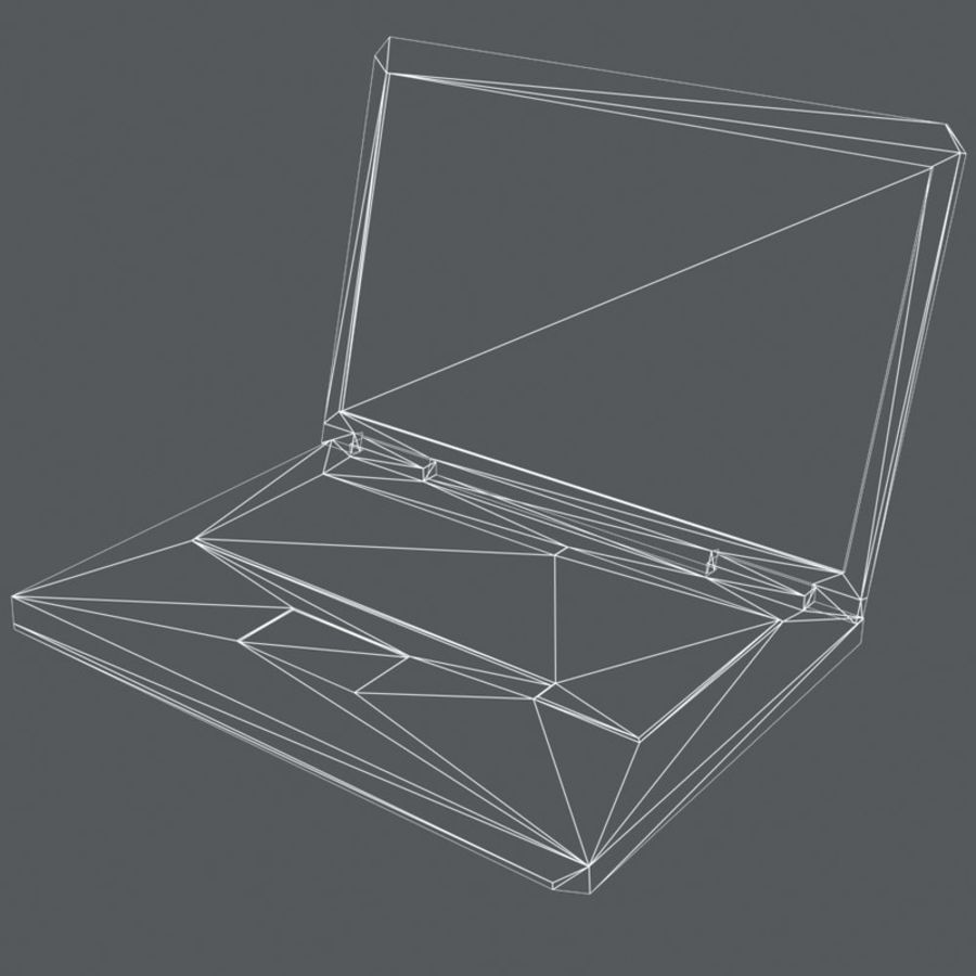 Notebook royalty-free 3d model - Preview no. 6