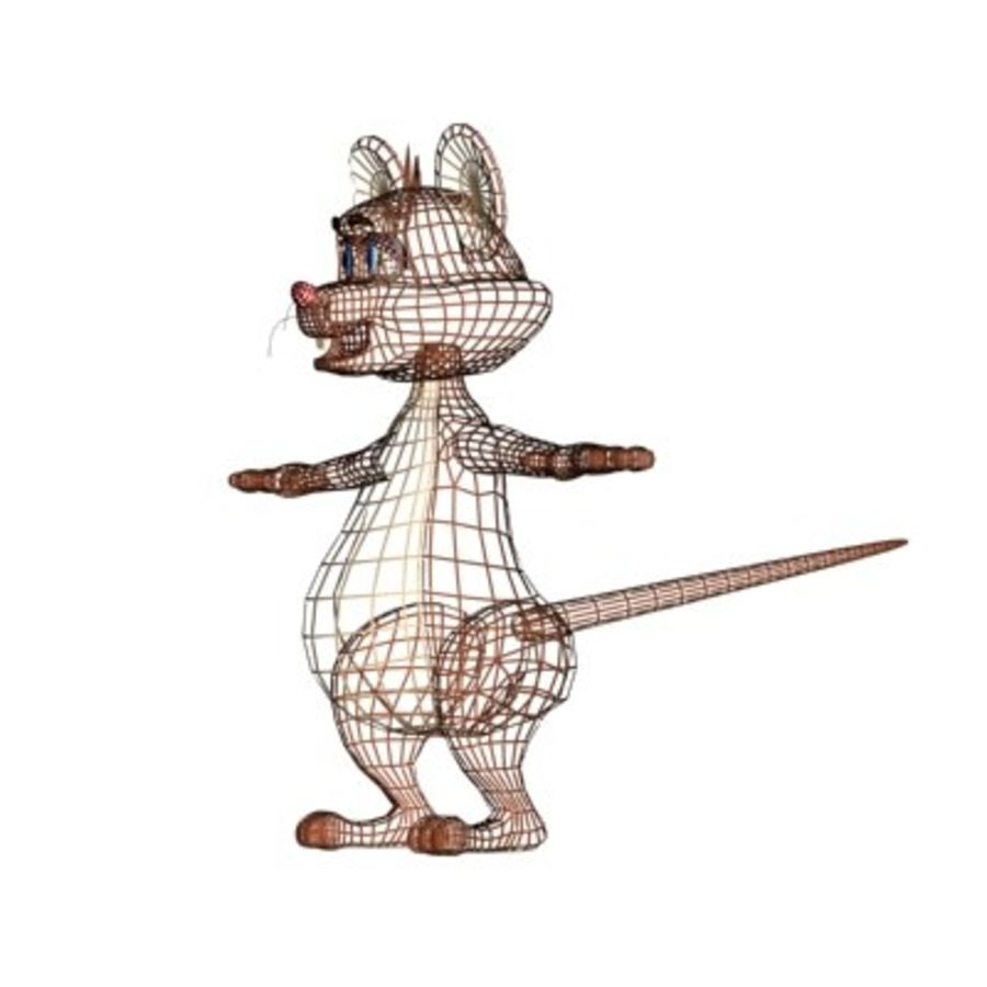 cartoon mouse royalty-free 3d model - Preview no. 5