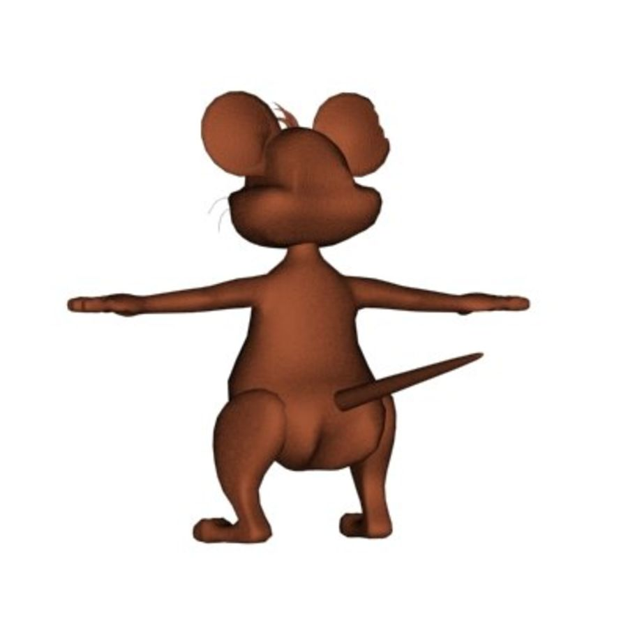 cartoon mouse royalty-free 3d model - Preview no. 7
