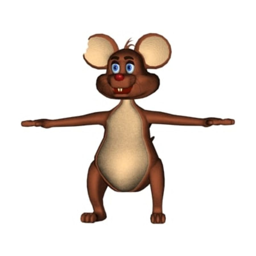 cartoon mouse royalty-free 3d model - Preview no. 2