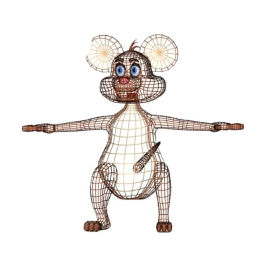 cartoon mouse royalty-free 3d model - Preview no. 3