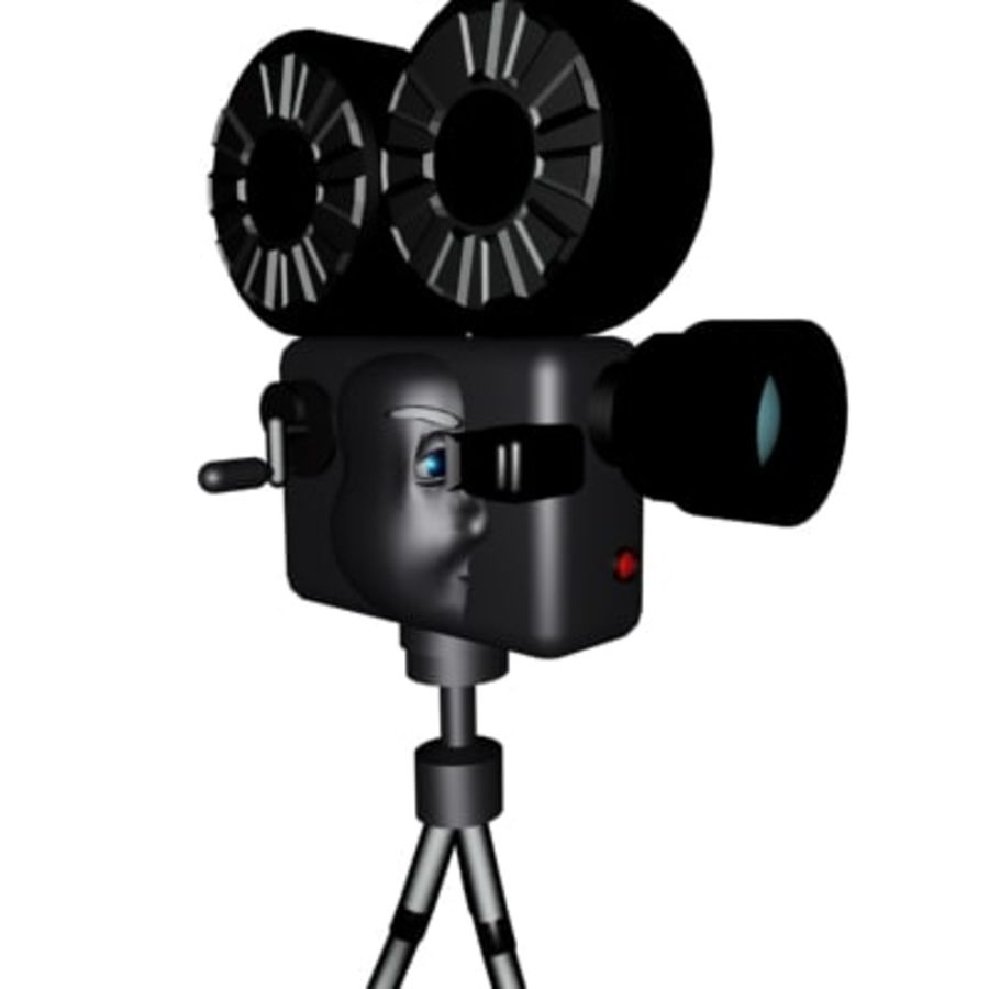 tecknad filmkamera royalty-free 3d model - Preview no. 1