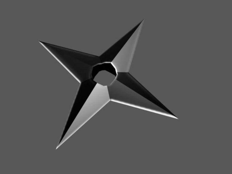 Star Shuriken Throwing Star 3d Model 2 Max Free3d