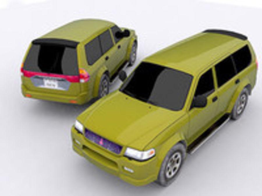 Mitsubishi Challenger royalty-free 3d model - Preview no. 5