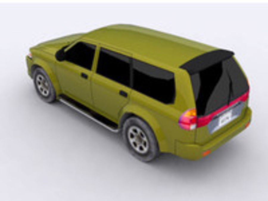 Mitsubishi Challenger royalty-free 3d model - Preview no. 2
