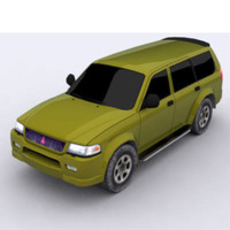 Mitsubishi Challenger royalty-free 3d model - Preview no. 9