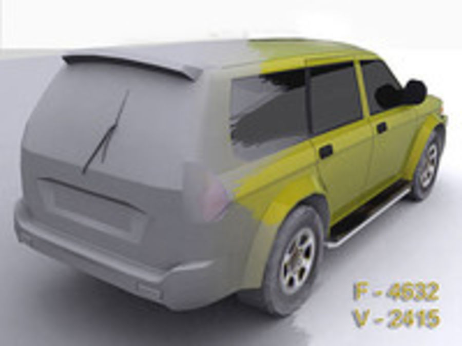 Mitsubishi Challenger royalty-free 3d model - Preview no. 6