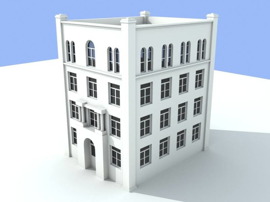 4storey bldg .rar royalty-free 3d model - Preview no. 1