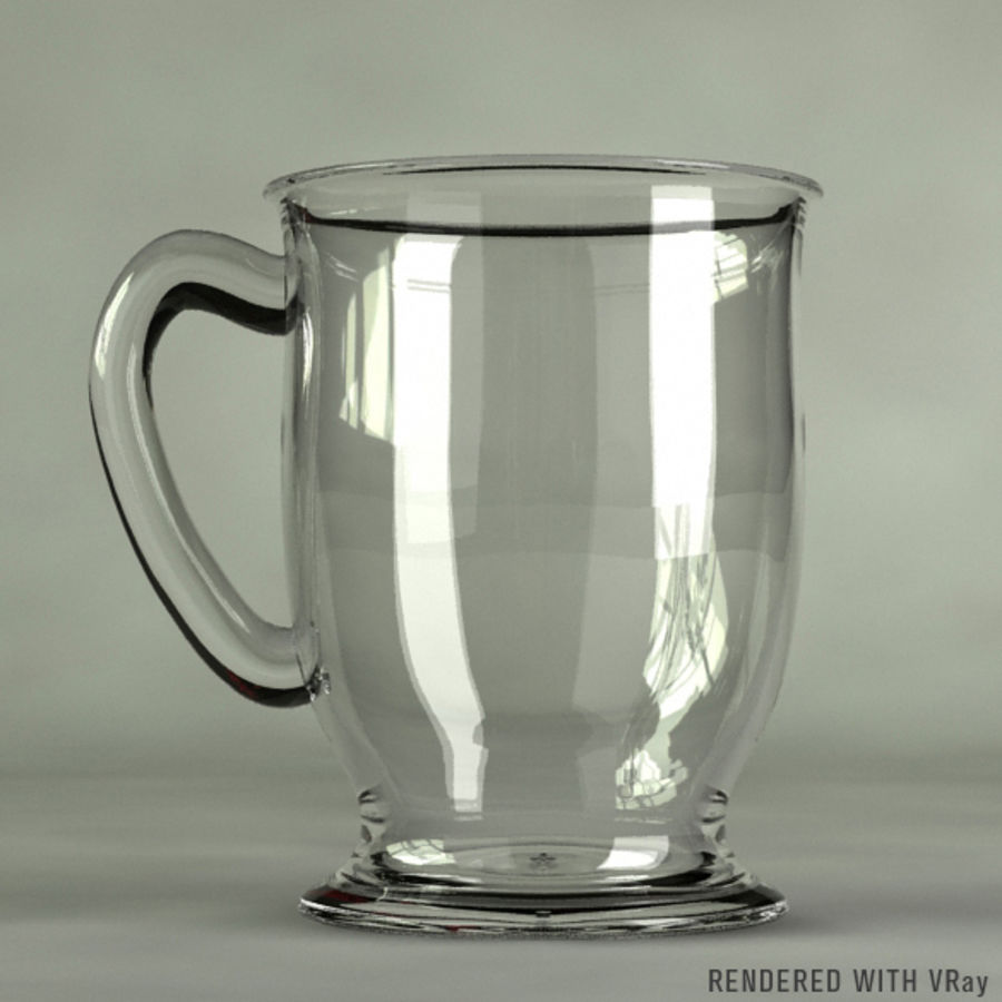 Glass Coffee Cup  [VR] royalty-free 3d model - Preview no. 1