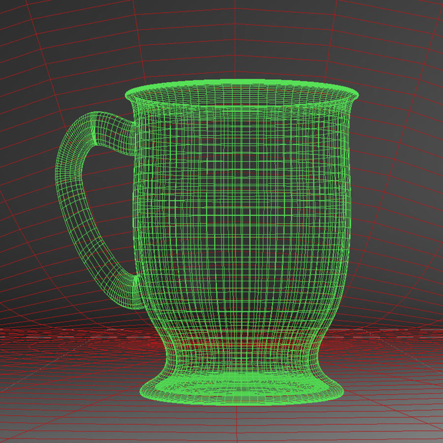 Glass Coffee Cup  [VR] royalty-free 3d model - Preview no. 5