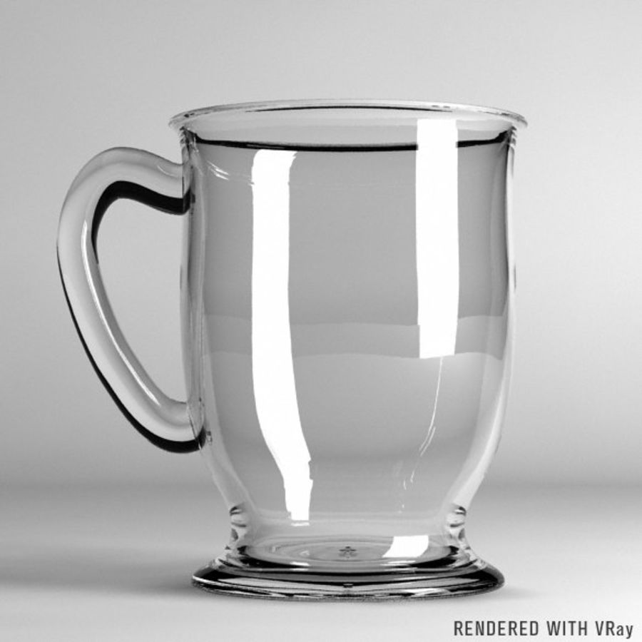 Glass Coffee Cup  [VR] royalty-free 3d model - Preview no. 4