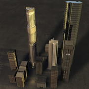 Skyscrapers (Basic) 3d model