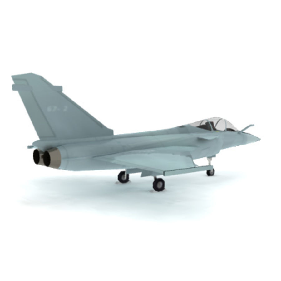 Dassault Rafale Fighter Jet royalty-free 3d model - Preview no. 2