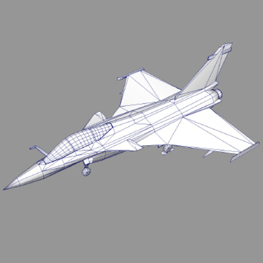 Dassault Rafale Fighter Jet royalty-free 3d model - Preview no. 3