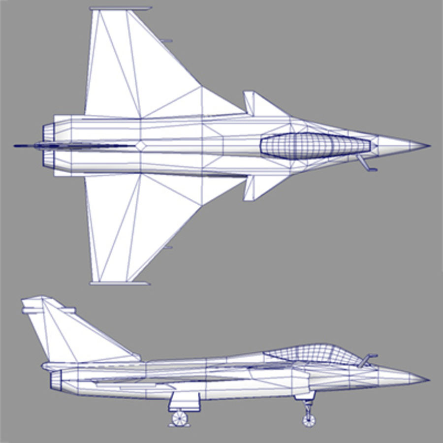 Dassault Rafale Fighter Jet royalty-free 3d model - Preview no. 4