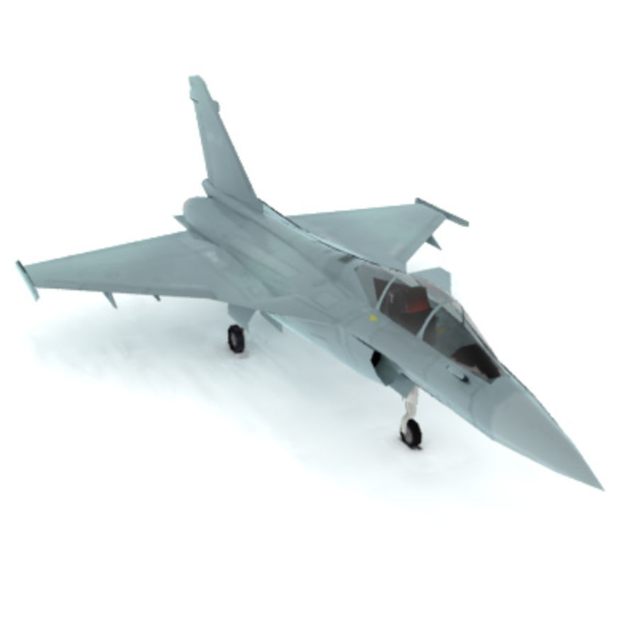 Dassault Rafale Fighter Jet royalty-free 3d model - Preview no. 1