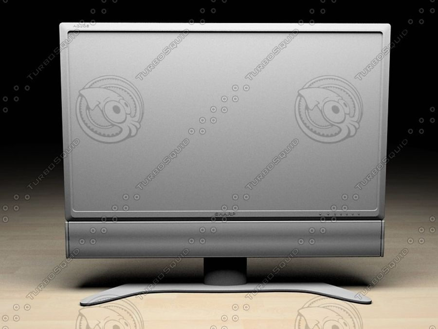 LCD TV Sharp AQUOS royalty-free 3d model - Preview no. 2