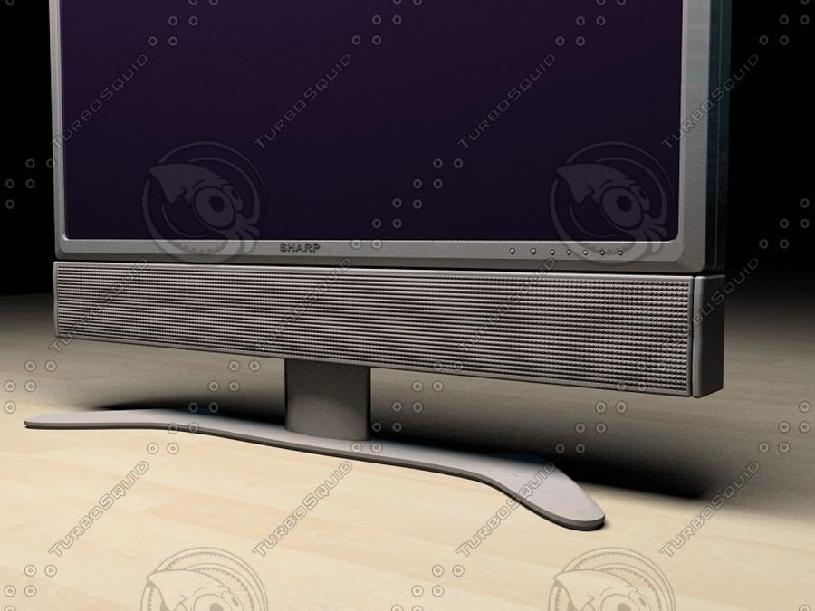 LCD TV Sharp AQUOS royalty-free 3d model - Preview no. 4