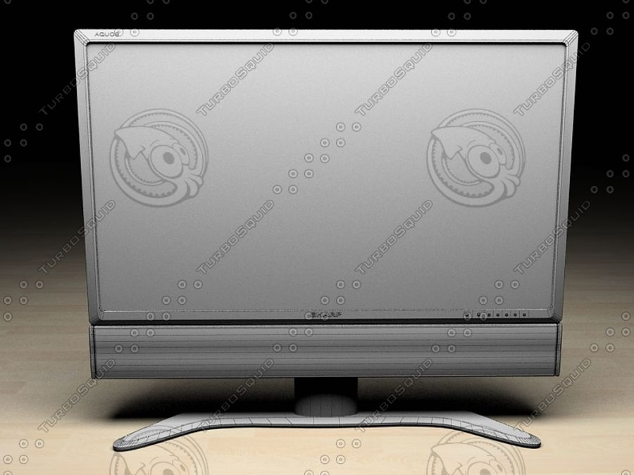 LCD TV Sharp AQUOS royalty-free 3d model - Preview no. 3