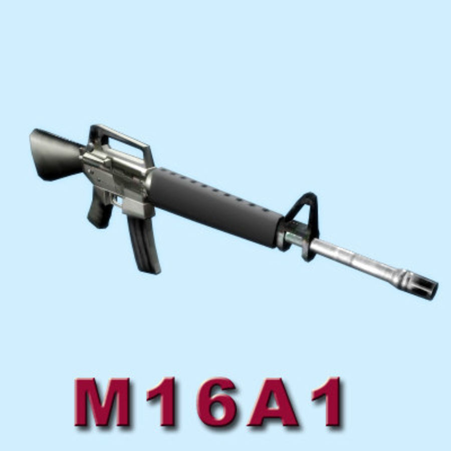 M16A1ライフル royalty-free 3d model - Preview no. 2