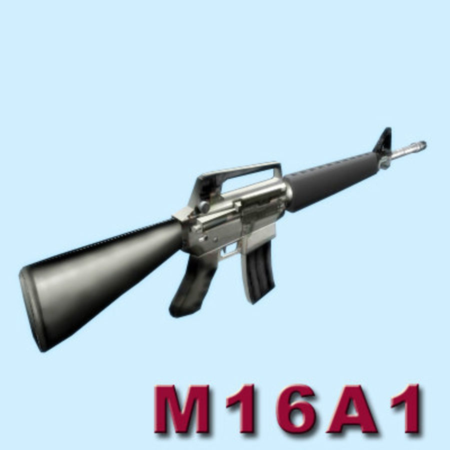 M16A1ライフル royalty-free 3d model - Preview no. 13