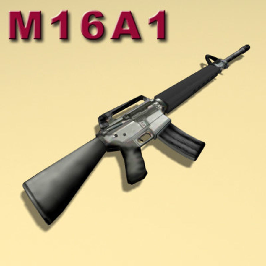 M16A1ライフル royalty-free 3d model - Preview no. 6