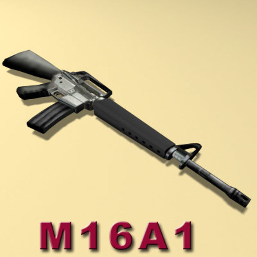 M16A1ライフル royalty-free 3d model - Preview no. 7