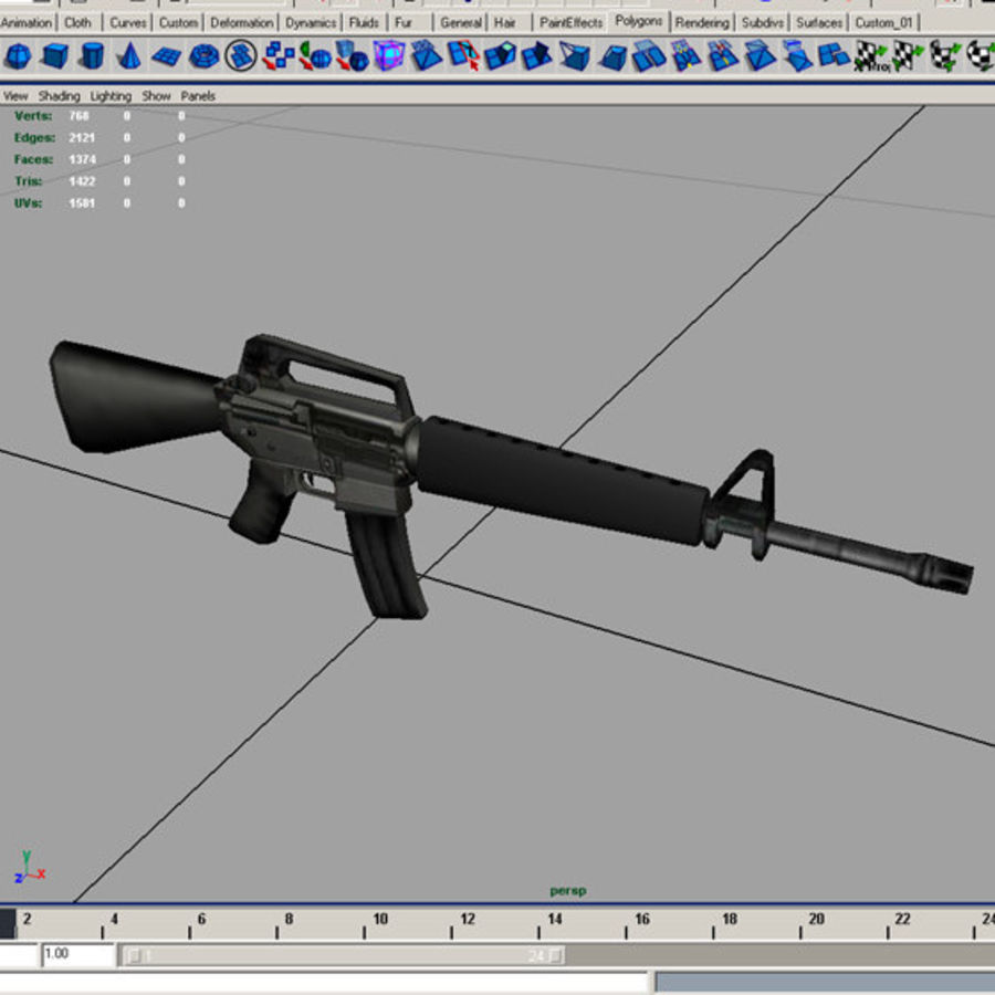M16A1ライフル royalty-free 3d model - Preview no. 8