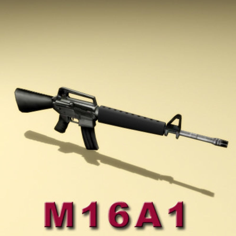 M16A1ライフル royalty-free 3d model - Preview no. 5