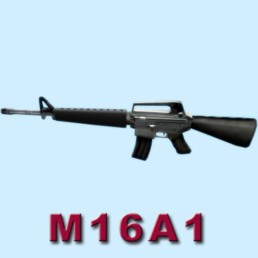 M16A1ライフル royalty-free 3d model - Preview no. 4