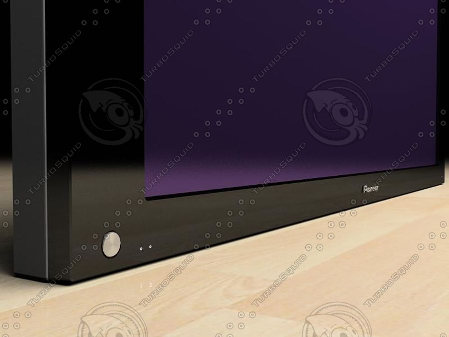 Pioneer plasma TV royalty-free 3d model - Preview no. 2