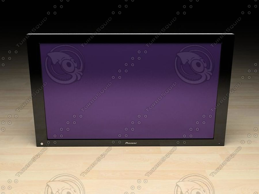 Pioneer plasma TV royalty-free 3d model - Preview no. 1