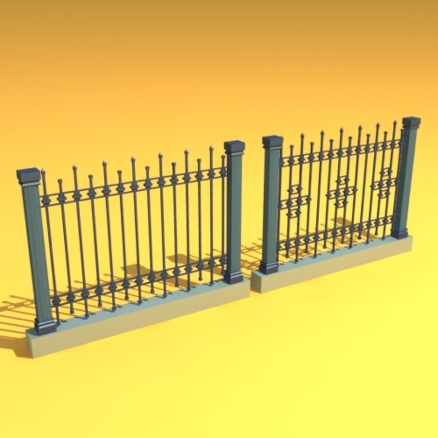 fence garden home royalty-free 3d model - Preview no. 2