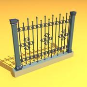 fence garden home 3d model