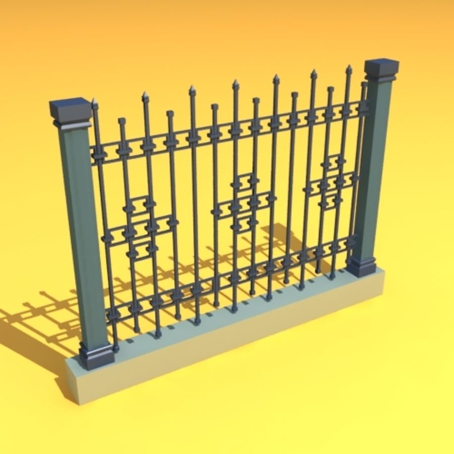fence garden home royalty-free 3d model - Preview no. 1