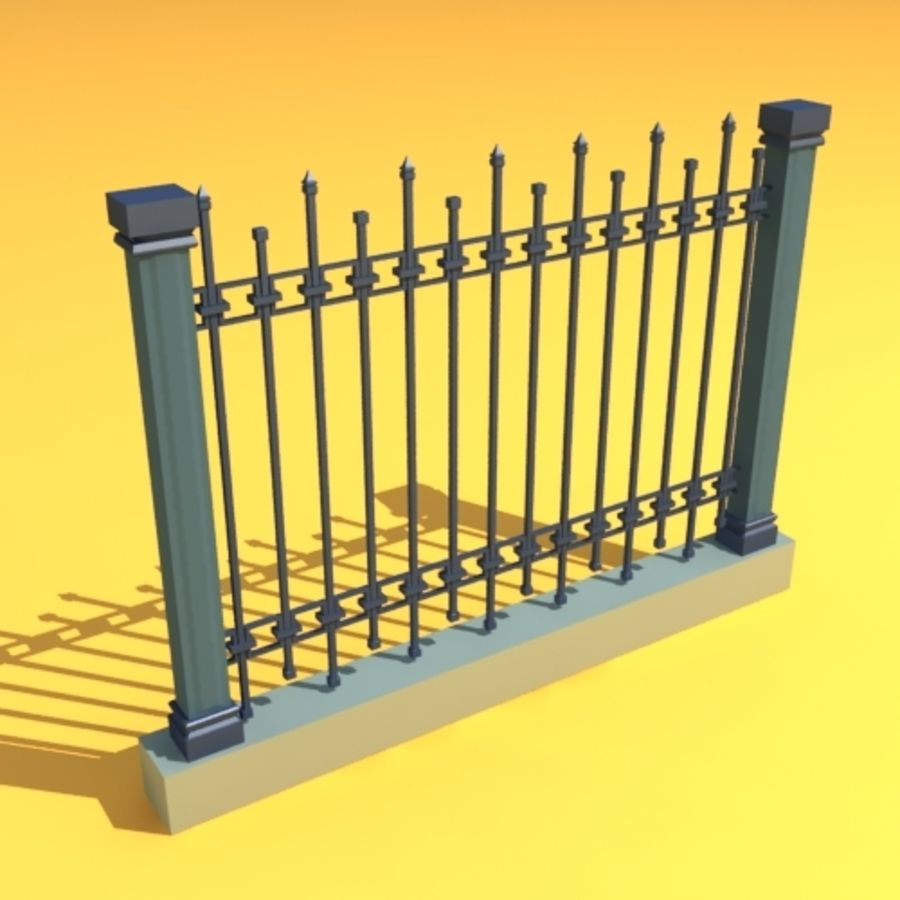 fence garden home royalty-free 3d model - Preview no. 3