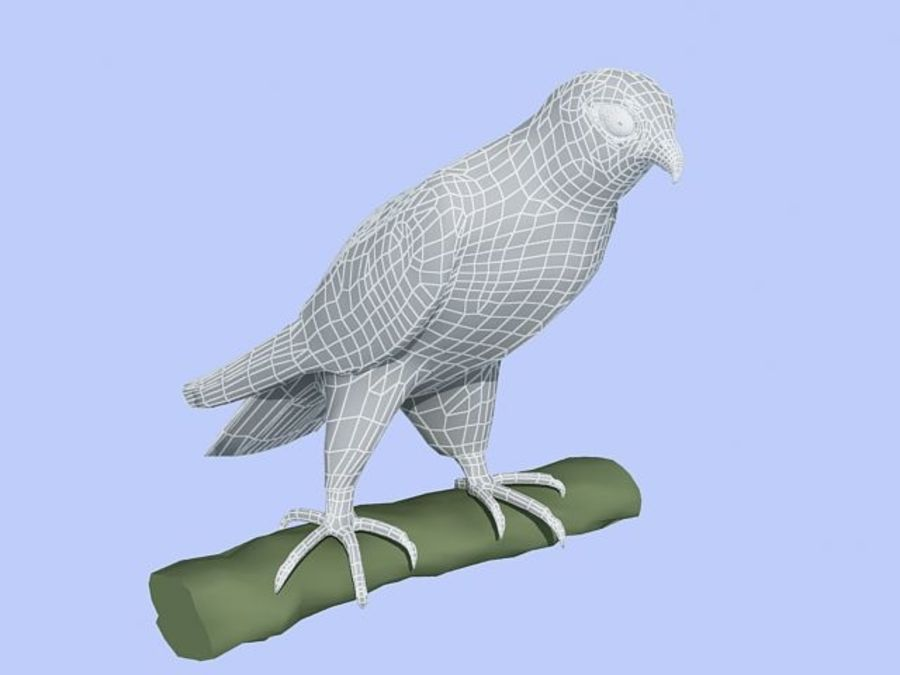 Peregrine Falcon Low Poly  3D Model royalty-free 3d model - Preview no. 7