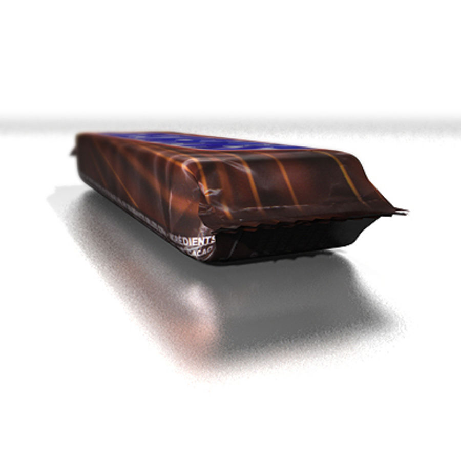 Chocolate bar (Snickers) royalty-free 3d model - Preview no. 4