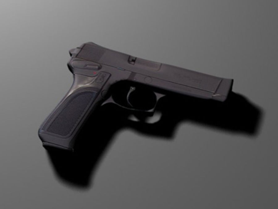 FN-browning BDM royalty-free 3d model - Preview no. 2