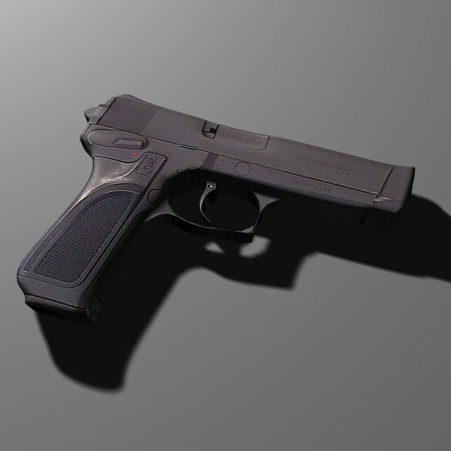 FN-browning BDM royalty-free 3d model - Preview no. 1